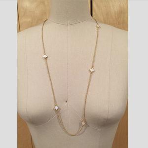 Kate Spade Signature Mother-Of-Pearl long necklace